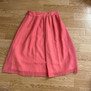 ティアンエクート(TIENS ecoute)の夏用膝丈スカート ピンク(ひざ丈スカート)