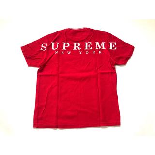 シュプリーム(Supreme)の(M)Supreme Stripe Rib Waffle Topワッフルトップ赤(Tシャツ/カットソー(半袖/袖なし))
