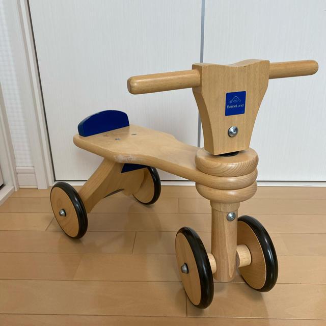 BorneLund(ボーネルンド)の☆ボーネルンド 木製バイク☆ キッズ/ベビー/マタニティのおもちゃ(知育玩具)の商品写真