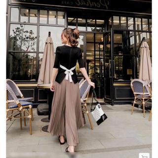 dholic - 韓国ファッションセットアップ オールインワンワイドパンツワンピース