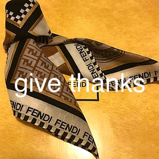 FENDI - 未使用 フェンディ  ハンカチ スカーフ      アイコンだよ全員集合