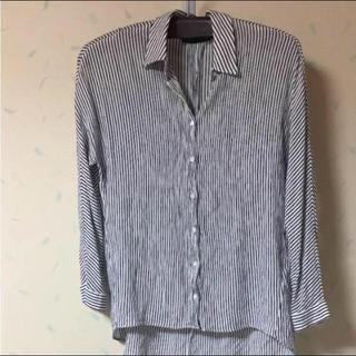 ザラ(ZARA)のZARA ストライプのシャツ(シャツ/ブラウス(長袖/七分))