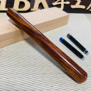 銘木 手作り 万年筆 アメリカンアイアンデザートウッド ♪おまけに木製ケース付き