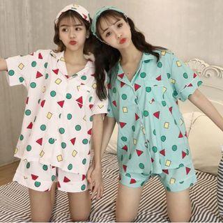 残少!人気♩半袖半ズボン 夏用 クレヨンしんちゃん パジャマ ピンク(ルームウェア)