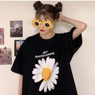 韓国トレンドフラワー ストリート系 夏のTシャツ トップス レディース 即日発送