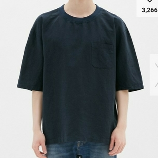 GU - 【新品タグ付き】GU  リネンブレンドビッグプルオーバーシャツ Tシャツ シャツ
