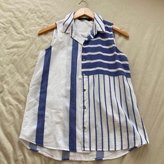 ザラ(ZARA)のZARA  BASIC  ノースリーブシャツ M(シャツ/ブラウス(半袖/袖なし))