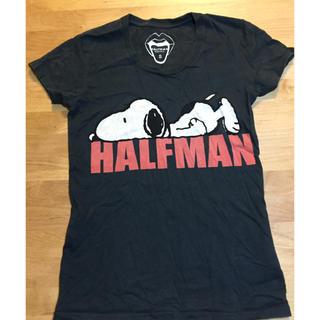 ハーフマン(HALFMAN)のハーフマン スヌーピーティシャツ(Tシャツ(半袖/袖なし))