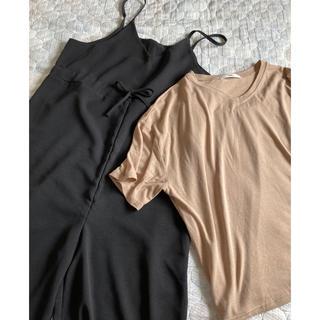 グレイル(GRL)のGRL Tシャツ✖️キャミオールインワン2点セット(Tシャツ(半袖/袖なし))