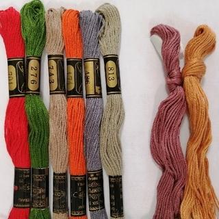オリンパス(OLYMPUS)の刺繍糸 OLYMPUS★8本★ オリムパス 25番 刺しゅう糸(生地/糸)