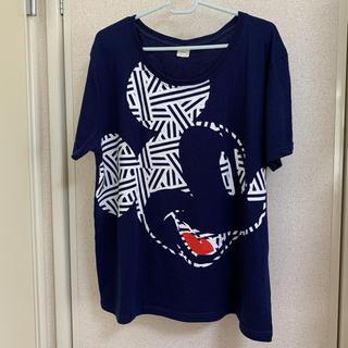 ディズニー(Disney)のレディース Tシャツ ミッキーマウス柄  4L(Tシャツ(半袖/袖なし))