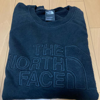 THE NORTH FACE - 美品ノースフェイス ロゴスウェット トレーナー ブラック