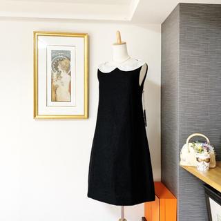 FOXEY - 極美品 フォクシー シルク 白襟 ワンピース ドレス
