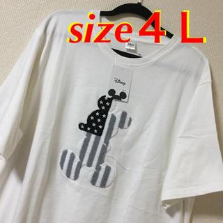 ディズニー(Disney)の大きいサイズメンズ*新品 タグ付き  ビックミッキーサガラTシャツ(Tシャツ/カットソー(半袖/袖なし))