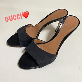 Gucci - ✨定8万✨GUCCI グッチ 本革×キャンバス✨ミュール✨#37 約24㎝✨