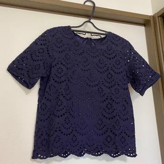 ジーユー(GU)のGU レースブラウス トップス(シャツ/ブラウス(半袖/袖なし))