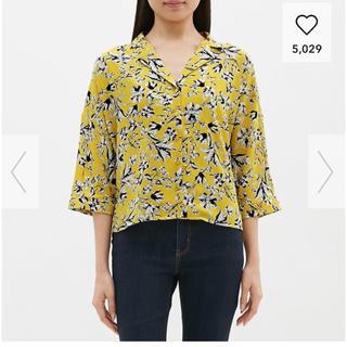 ジーユー(GU)のプリントオープンカラーシャツ(シャツ/ブラウス(長袖/七分))