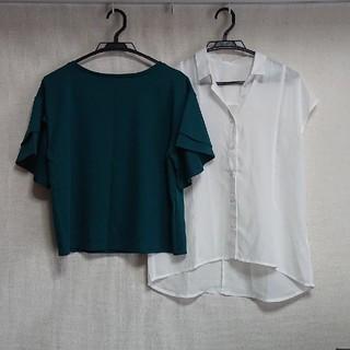 ジーユー(GU)のgu トップス カットソー ブラウス2枚セット(シャツ/ブラウス(半袖/袖なし))