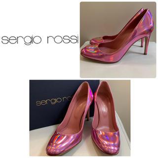 Sergio Rossi - セルジオロッシ ピンクオーロラ パンプス