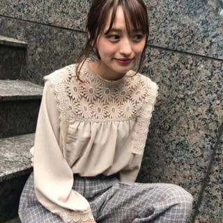 フラワー(flower)のflower special lace blouse(シャツ/ブラウス(長袖/七分))