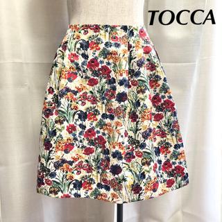 TOCCA - 美品 TOCCA・LIBERTYコラボスカート 花柄