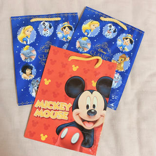 ディズニー(Disney)のディズニー ミッキー バンビ シンデレラ ピノキオ ダンボ ショップ袋 紙袋(キャラクターグッズ)