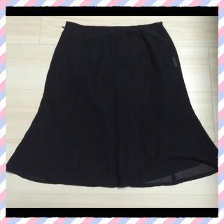 黒シフォンスカート(ひざ丈スカート)