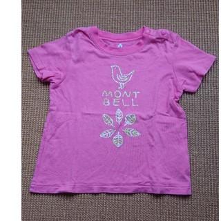 モンベル(mont bell)のモンベル ベビー 90cm Tシャツ ピンク 野鳥(Tシャツ/カットソー)