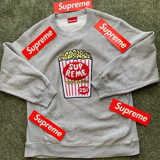 Supreme - Supreme crew neck ポップコーン グレー サイズ XL 送料無料