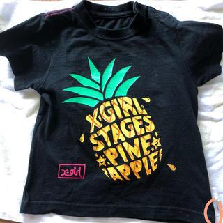 エックスガールステージス(X-girl Stages)のx-girlstages 半袖Tシャツ 95 3T (Tシャツ/カットソー)