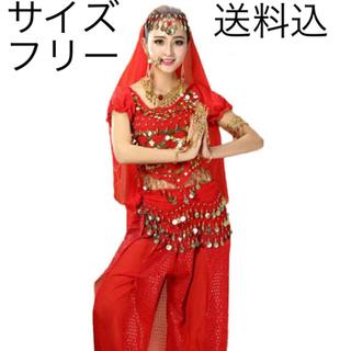 アラビアン 衣装 赤 レッド(衣装一式)