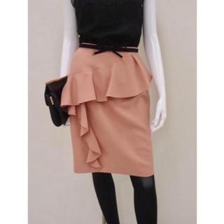 JUSGLITTY - 新品タグ付き♡アシメフリルタイトスカート