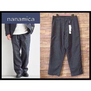 ナナミカ(nanamica)の新品 定価2.8万 ナナミカ MOON 19AW ツイード ワイド パンツ 32(スラックス)