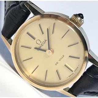 OMEGA - 【美品】OMEGA オメガ デビル ゴールド文字盤 手巻 腕時計
