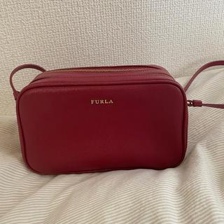 【美品】FURLA ショルダーバッグ 赤 レッド 日本未入荷(ショルダーバッグ)