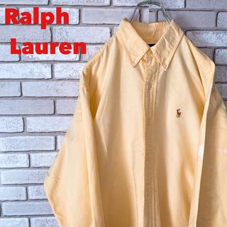 Ralph Lauren - ラルフローレン ボタンダウン シャツ ワンポイント 刺繍 ロゴ 90s