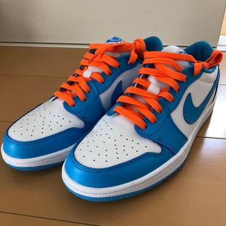 AJ1 ローカットバスケットボールシューズ水色/白 28.0cm