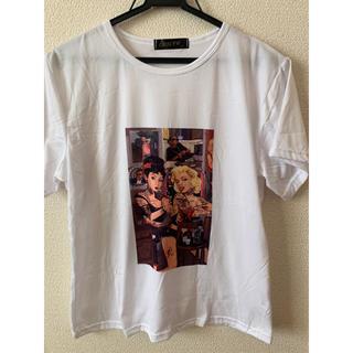Tシャツ マリリン マリリンモンロー ダーク タトゥー 入れ墨 半袖   面白T(Tシャツ(半袖/袖なし))