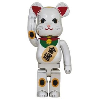 【新品未開封】BE@RBRICK ベアブリック 招き猫 銀メッキ 弐 1000%(キャラクターグッズ)