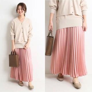 IENA SLOBE - 新色ピンク*今季新作 SLOB IENA 新品サテンプリーツロングスカート