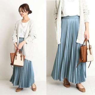 IENA SLOBE - 完売色S.ブルー*今季新作 SLOB IENA 新品サテンプリーツロングスカート