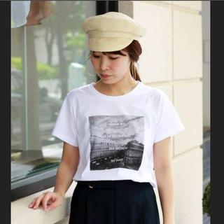 ルクールブラン(le.coeur blanc)の美品 le.coeur blanc  転写 プリント Tシャツ 半袖(Tシャツ(半袖/袖なし))