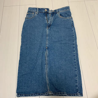 ZARA - デニムタイトスリットスカート