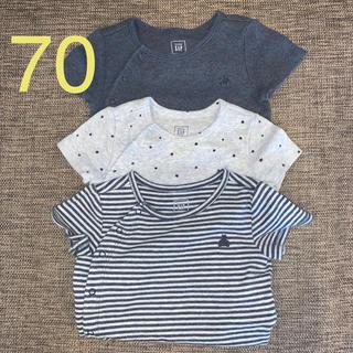 babyGAP - baby GAP ロンパース 70サイズ 3枚組