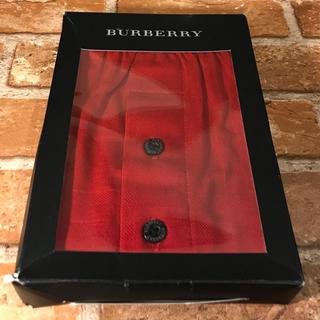 バーバリー(BURBERRY)の【正規品】BURBERRY バーバリー シャドーチェックニットトランクス L 赤(トランクス)