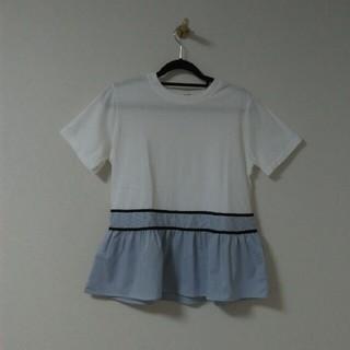 裾フレアー半袖トップス(カットソー(半袖/袖なし))