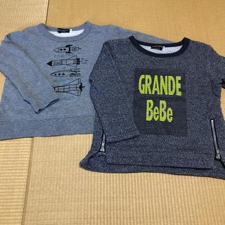 ベベ(BeBe)のべべ トレーナー 2枚セット(Tシャツ/カットソー)