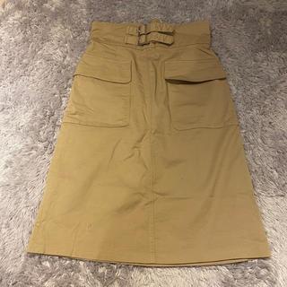 cheeky チノベージュタイトスカート