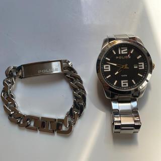 ポリス(POLICE)のポリス腕時計&ブレスレットセット(腕時計)