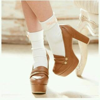 ユメテンボウ(夢展望)のリボンローファーパンプス(ローファー/革靴)